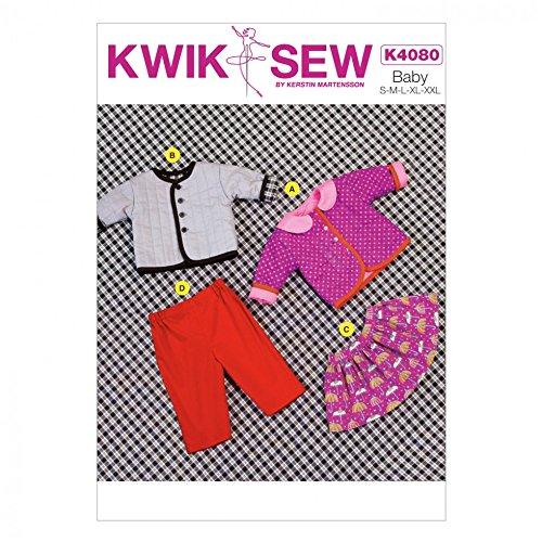 KwikSew Schnittmuster 4080 Baby Jacke, Hose, Rock &