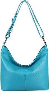 OBC Made in Italy Echt Leder Damen Tasche Shopper Schultertasche Umhängetasche Handtasche Henkeltasche IPad Mini Tablet bi...