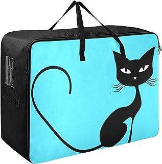 Organisateur de vêtements pour hommes noir chat vecteur organisateur de vêtements 70 X 50 X 28 cm couette couvre-lit oreil...