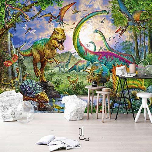 Mddj fotobehang van de muur vanaf de muur uit de bodem van de zolder voor de slaapkamer, voor kinderen van Del Murales Del Dinosauro Di Dinosauro 3D van papier uit het fotobehang 400 x 280 cm