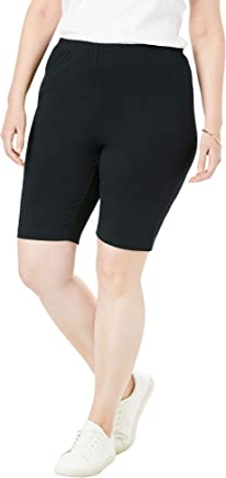 Woman Within Women's Plus Size Stretch Cotton Bike Short