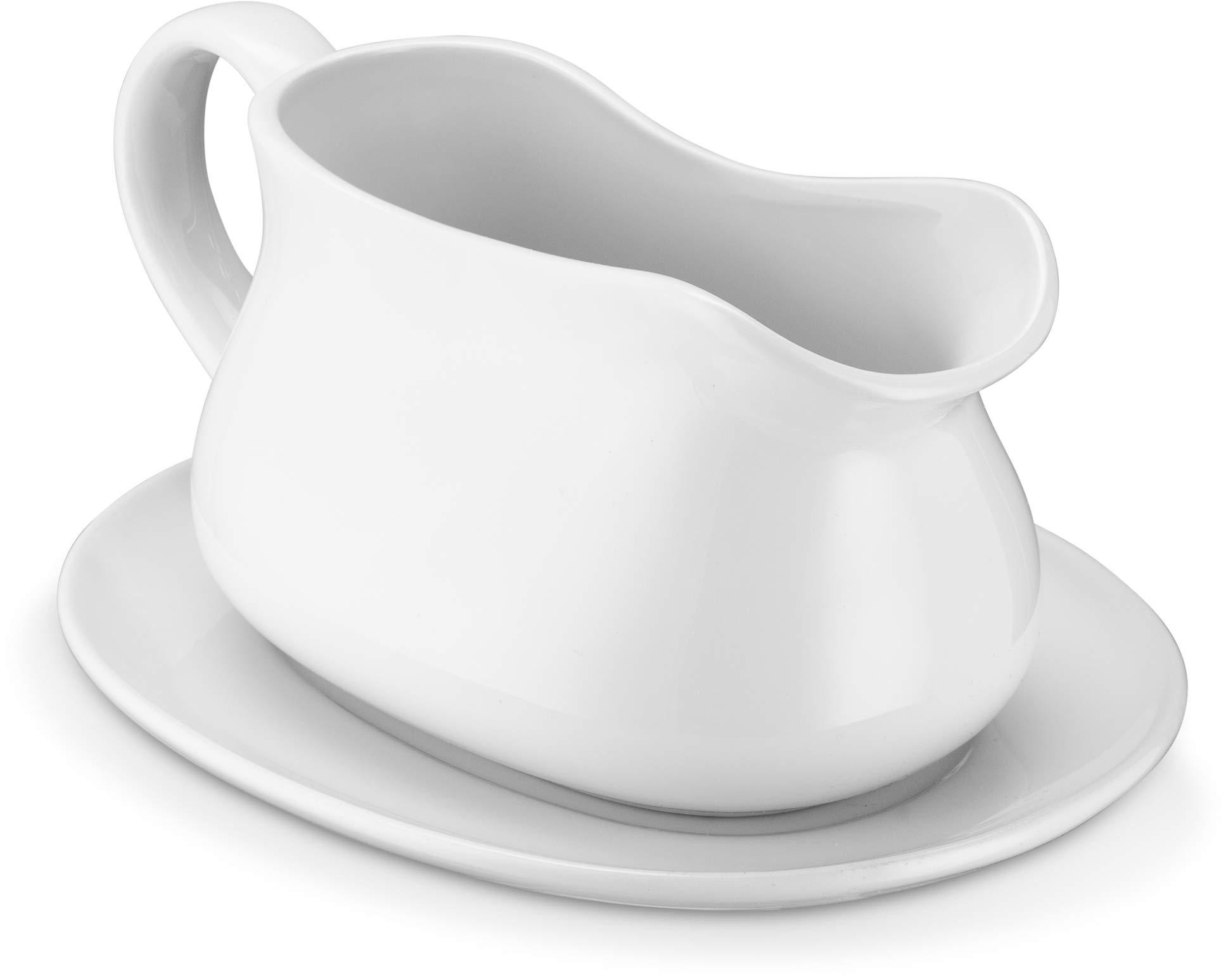 KooK Gravy Boat Ceramic White