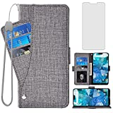 Asuwish Compatible with Nokia 7.1 Wallet Case and Tempered