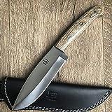 Hobby Hut HH 316 - Cuchillo de Caza Hecho a Mano de Acero Inoxidable 420C con Funda, Cuchillo de...