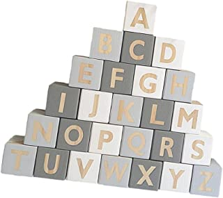 MagiDeal Wooden 26 English Alphabet Letters Kids Educational Toys Embellishenments Reading & Writing Alphabet Blocks #a