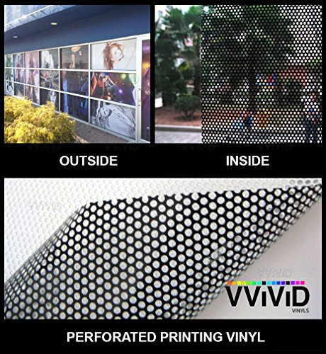 One-Way Perforated Vinyl Privacy Window Film Adhesive Glass Wrap Roll (2ft x 54 Inch)