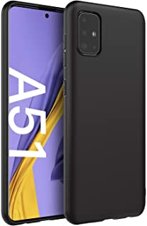 Matte Soft Silicone Back Cover For Samsung Galaxy A71 By Spigen - Black