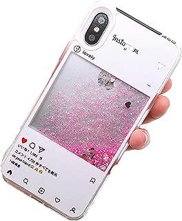 6 S,1 6S 7 8 Plus X Cases Bear Soft PC Clear Bottle Dynamic Liquid Quicksand,Instagram Quicksand,Plus 6S