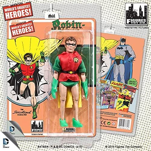 DC Comics Retro First Appearances Series 1 Robin Action Figure (Gelb Cape) by Figures Toy Company