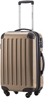Alex - Carry on luggage Suitcase Hardside Spinner Trolley Expandable 20¡° TSA Champagne