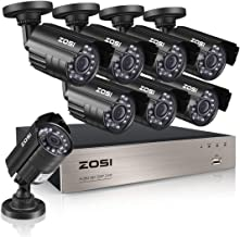ZOSI 8CH Home Security Surveillance System 8Channel 1080P Lite HD-TVI Video CCTV Wired DVR and 8pcs 720P 1.0MP Indoor Outdoor Weatherproof Cameras with 65ft Night Vision NO Hard Drive