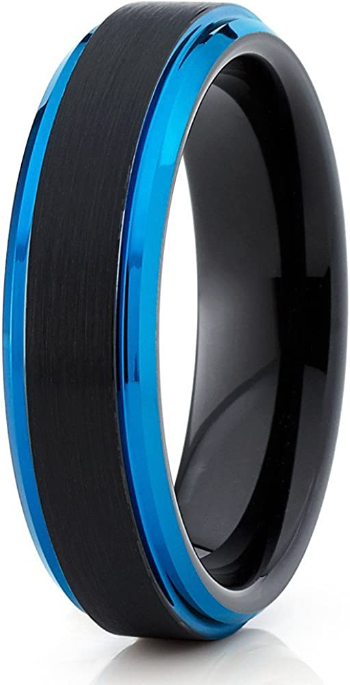 Omaha Mall Silly Kings Blue Tungsten Wedding Carb Women Band Men Daily bargain sale