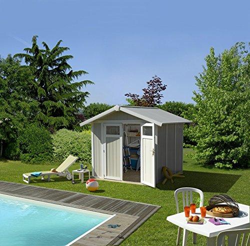 *Gartenhaus Utility 4,9Grosfillex blau*