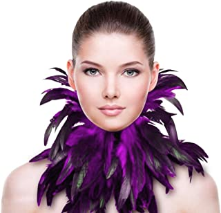 ZAKIA Gothic Natural Feather Necklace Collar Neck Collar Halloween Party Accessories