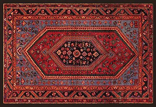 HomeLife Tapis style persan/oriental lavable pour salon, chambre, séjour avec fond antidérapant et impression numérique d