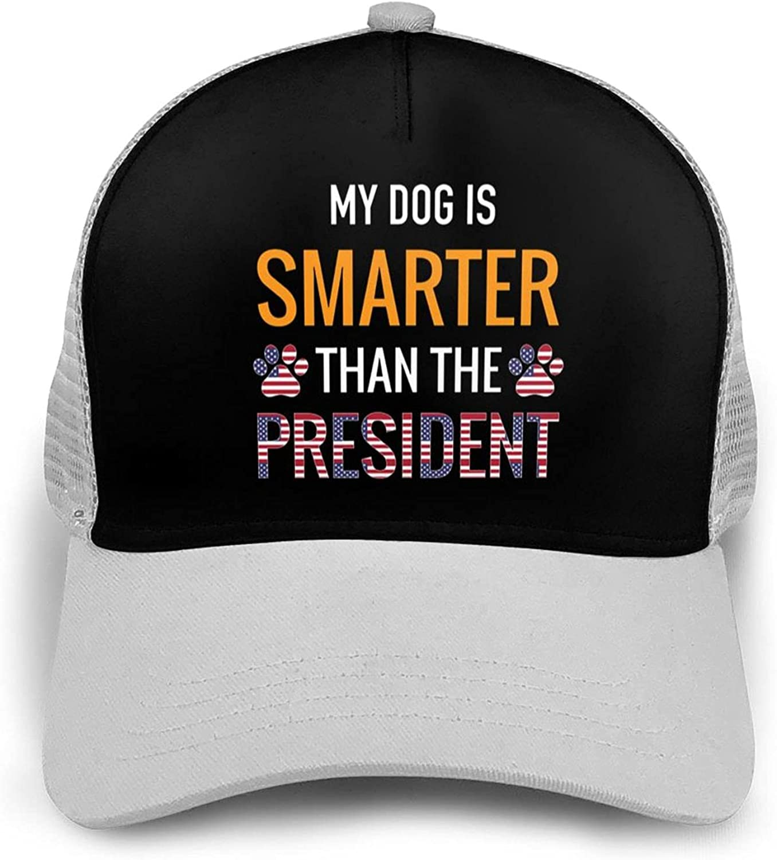 COMILERY My Dog is Smarter Than The President Mesh Breathable Baseball Cap Unisex Adjustable Hip Hop Snapback Hats