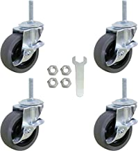 Threaded Stem Mount Industrial Castors 1Pc F Fityle 1.5 Caster Wheels with Brake