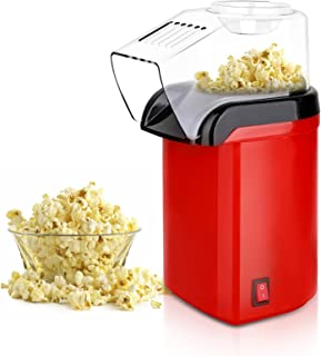 Hot Air Popcorn Popper Maker, Mini Popcorn Machine with Measuring Cup and Removable Lid No Oil Needed for Home Family Movi...