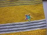 Babypulli Gr. 74/80 gelb grau weiß gestreift handgestrickt - 4