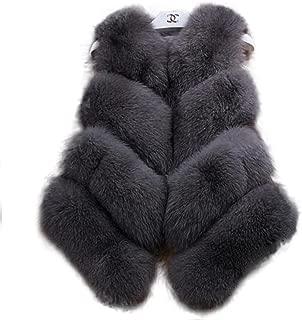 Manka Vesa Womens Winter Luxury Natural Real Fox Fur Real Fur Coat Vest Outerwear Party Club Cocktail