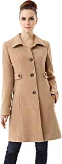 Women's Heather Wool Blend Walking Coat (Regular Plus & Short)