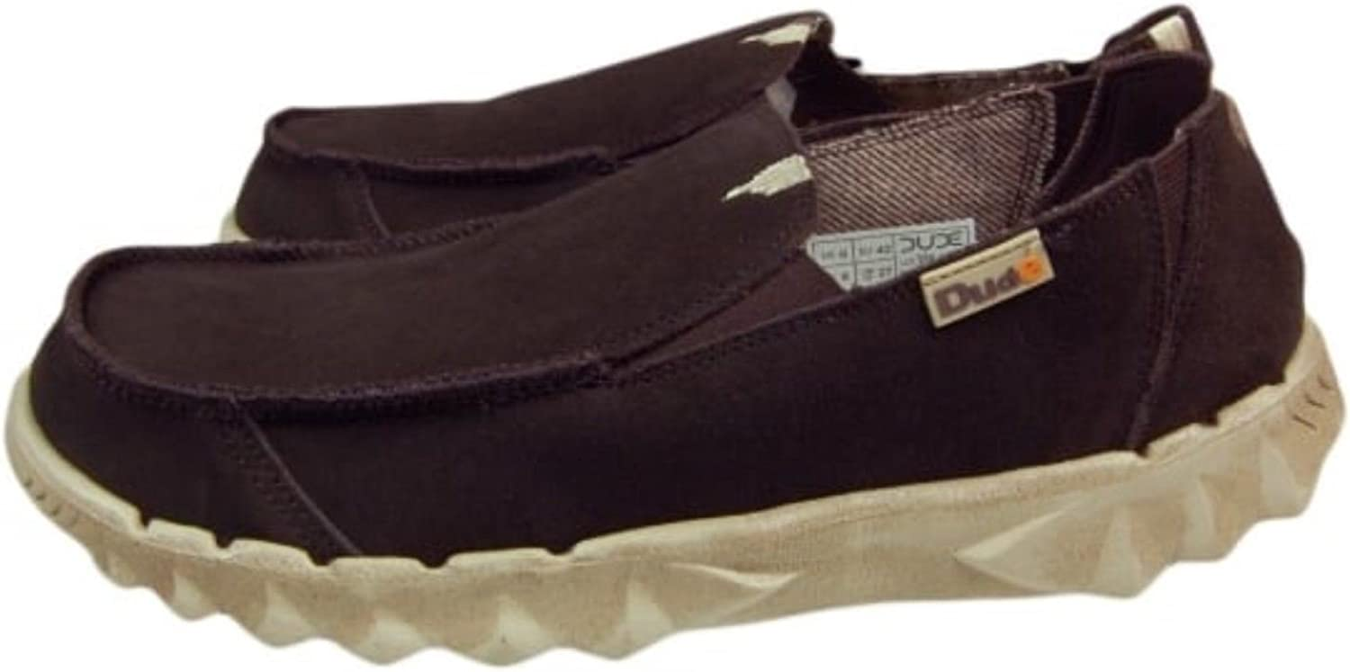 Hey Dude Slip On Men shoes Farty Dark Brown Nut Suede Mule Leather Lined Insole