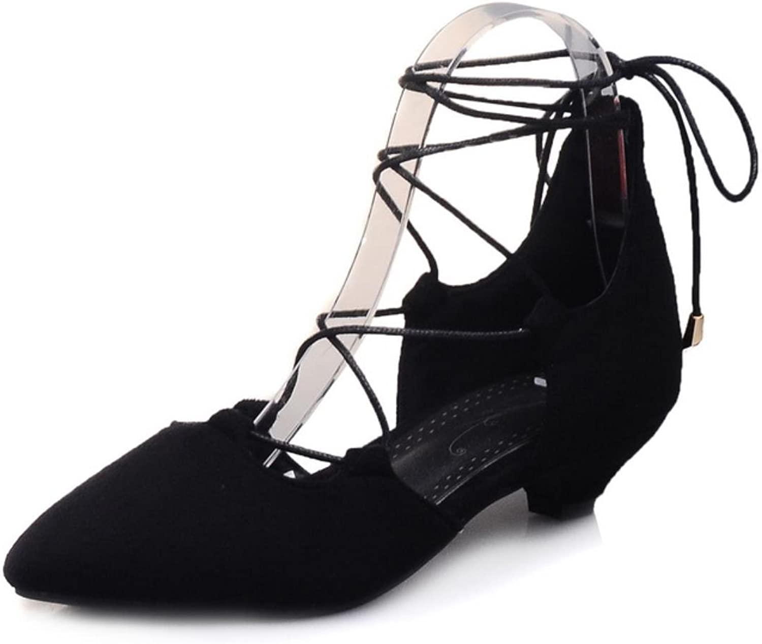 Phoentin large size sexy sandals mid calf leg cross tied lace up female shoes