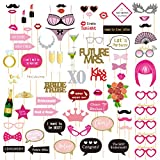 Bachelorette Party Decorations, Photo Booth Props (72 Pieces)
