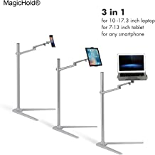 MagicHold 3 in 1 360º Rotating Height Adjusting Laptop Stand/ Ipad Pro 12.9