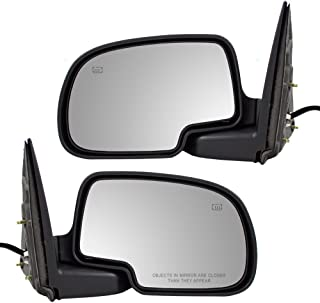 Power Side View Mirrors Heated Puddle Lamp Driver and Passenger Replacements for Cadillac Chevrolet GMC SUV 15179836 15179835