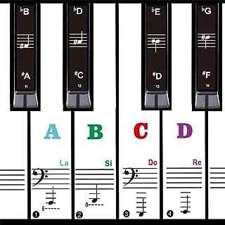 88/61/54/49piano keyboard accessories sticker,Colorful bold