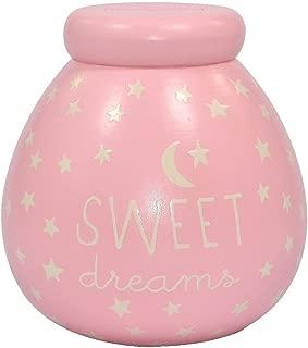 Pot Of Dreams Small Ceramic Money Box Baby Girl Glow In The Dark 50835 - Break
