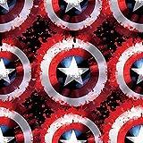 Marvel Fleece Stoff – Marvel – Captain America Schild