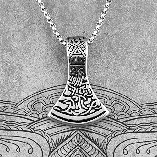 Herren Halskette Axe of Ares Viking Long Men Halsketten Anhänger Chain Punk Für Boyfriend Male Edelstahl Schmuck Kreativität Geschenk