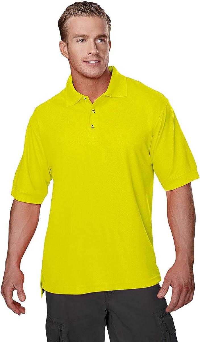 Tri-Mountain Men's 100% Polyester Short Sleeve Safeguard Pique Safety Polo Shirt