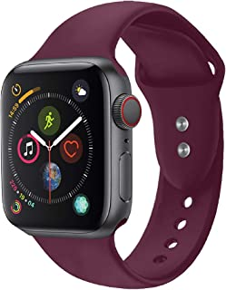 Promate Silicone Wristbands for Apple Watch, Stylish Sweatproof Strap Bracelet with Double Pin-and-Tuck Closure and Adjust...