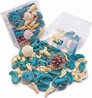 DomeStar Sea Shell Potpourri Bag, Fresh Ocean Scent Sea Shell Conch and Rattan Ball Sachets Decorative Spring Fragrance Bo...