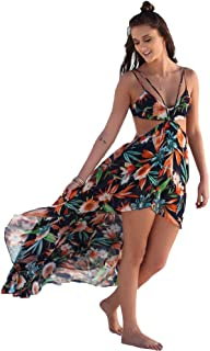 Maxi Beach Dresses for Women - Sexy Chiffon Floral Long Dresses Beach Summer Party