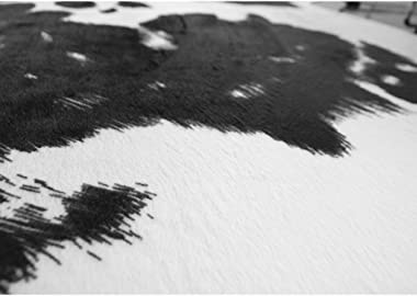 Rugs Carpets Cowhide Carpet Bedroom Coffee Table Black and White Fashion Plush Floor mat (Color : Brown 1, Size : 140 * 200cm