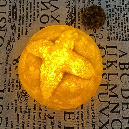 MAGICE Veilleuse LED Alimenté par Batterie lumières décoratives, Créatif Simulation du Pain Lampe de Chevet Nuit pour Cuisine, Couloir, escaliers, écoénergétique, bébé, Enfant - 0.5W,C