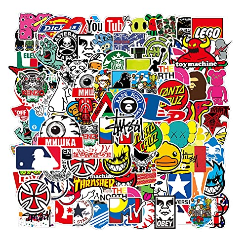 Cool Brand Stickers 101 Pack Decals for Laptop Computer Skateboard...