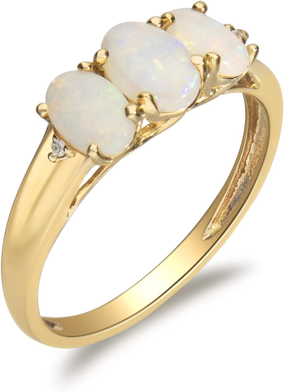 超定番 Gin Grace 10K Yellow Gold Real with Ring Diamond 3 Stone I1 使い勝手の良い