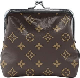 Women's Coin Purse Monogram M44021 Vintage Pouch Clasp Closure Wallet Clutch Handbag Purse