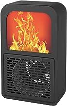 Calefactor Eléctrico Portátil Calentacdor con Efecto de Llama 3D Protección contra Sobrecalentamiento para Cuarto/Oficina Bajo Consumo de Energía 400 Vatios
