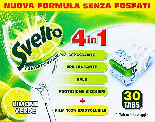 SVELTO Lavastoviglie 4 In 1 Limone Verde 30 Tabs 30 PEZZI
