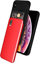 Goospery iPhone Xs Max Case [Sliding Card Holder] Protective Dual Layer Bumper [TPU+PC] Cover with Card Slot Wallet for Apple iPhone Xs Max 2018 6.5 inch (Red) IPXSP-Sky-RED