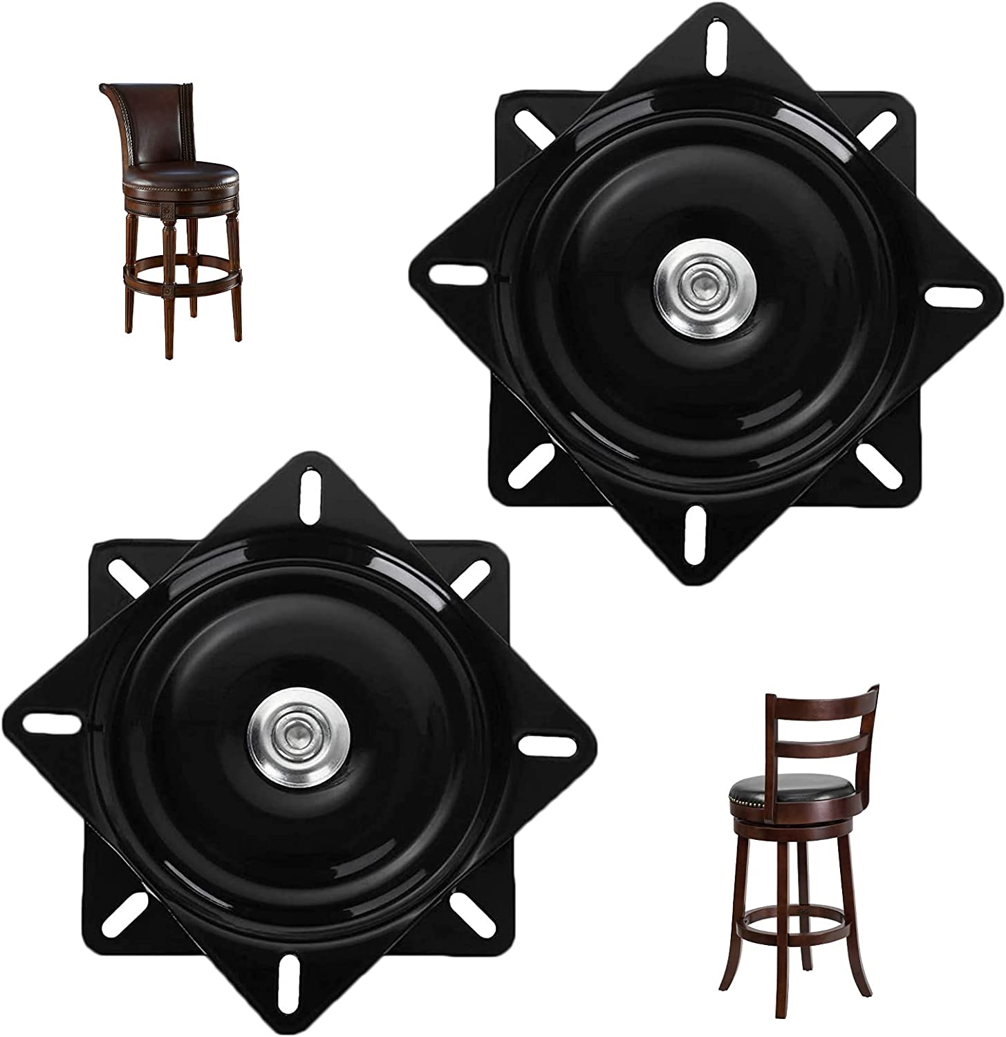 2 Pack 6 Inch Fort Worth Mall Heavy 35% OFF Duty Stool Reclin for Swivel Bar Replacement