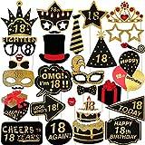 Amosfun 29 Pz 18 ° Compleanno Puntelli Foto Glitter Puntelli di Compleanno Accessori Per Feste Per La Decorazione Della Festa di Compleanno Favori Forniture
