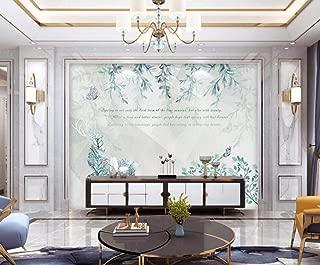 Wallpaper 3D Simple Butterfly Leaves Fresh Modern Custom Photo Wallpaper Murals Wall Decor
