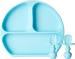 Silicone Suction Plate and Chewtensils Set